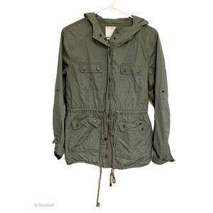 Forever 21 Army Utility Olive Field Jacket Green M